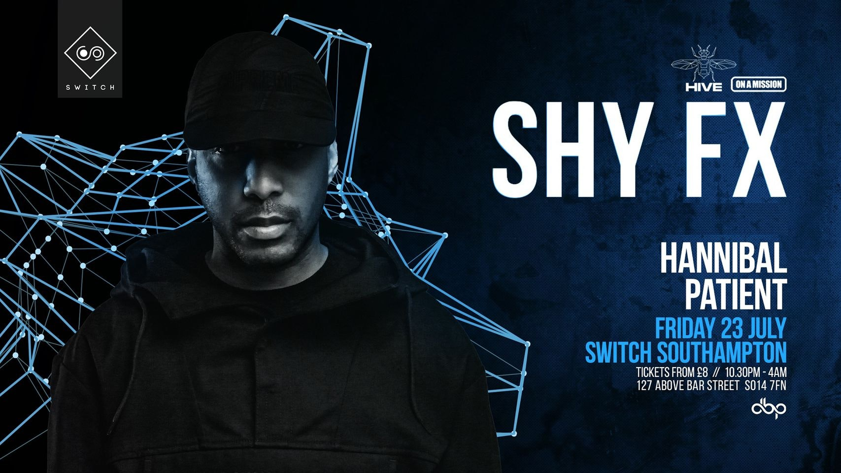 HIVE & OAM presents…. SHY FX – 500 tixs remain