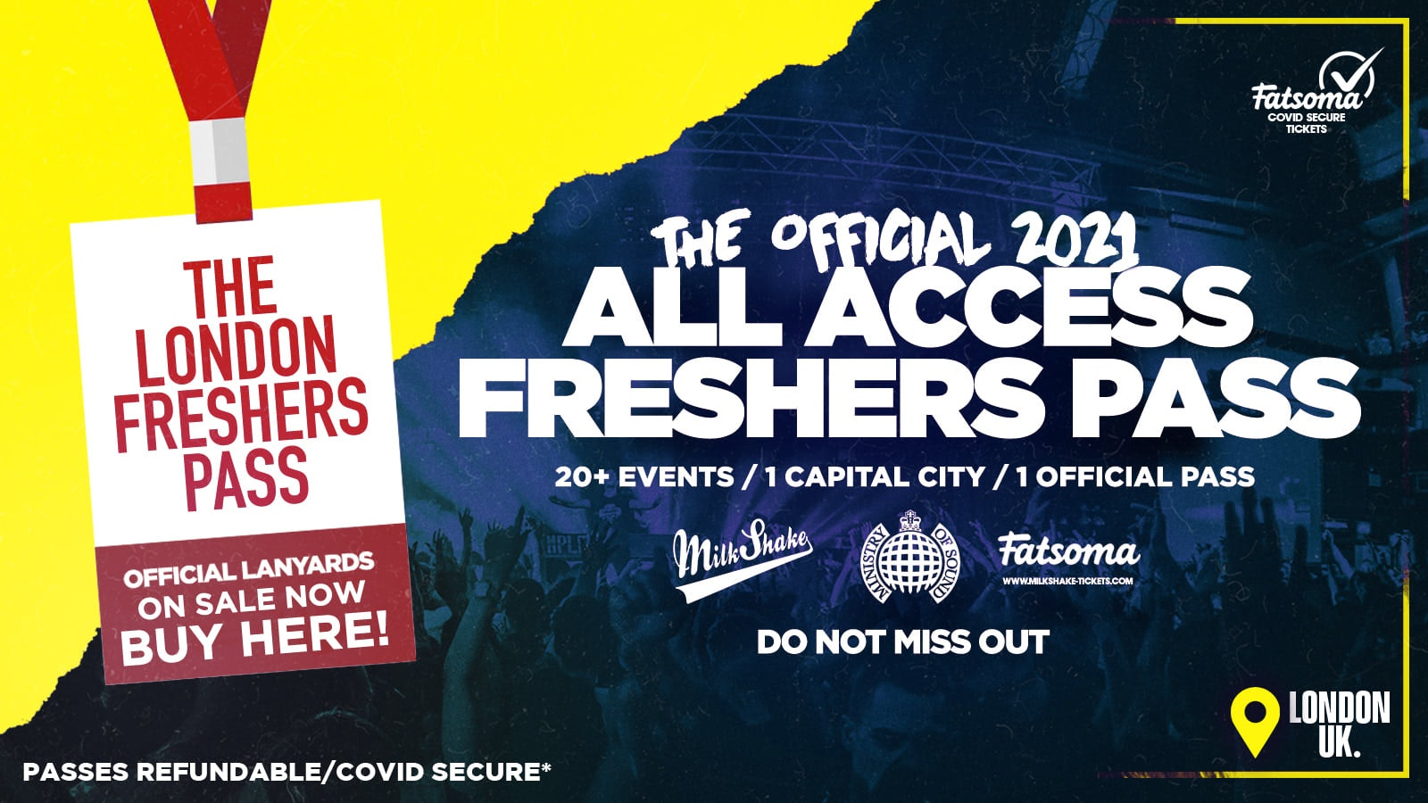 The Official All Access London Freshers Pass 2021 | Lanyards ⚠️ NEARLY SOLD OUT ⚠️