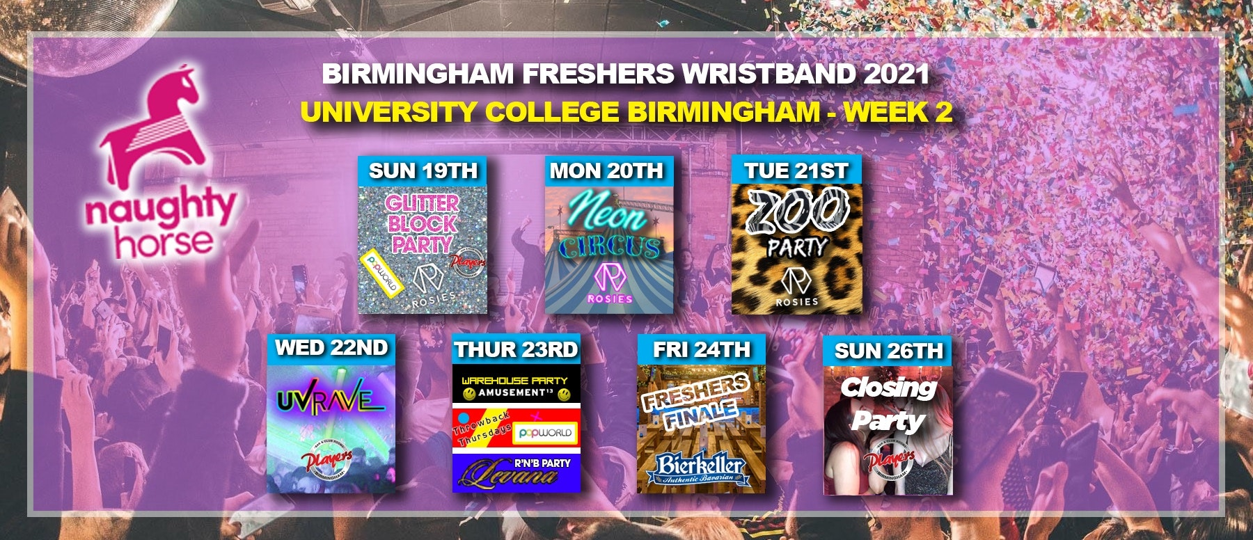 Birmingham Freshers Wristband 2021 – University College Birmingham (UCB) WEEK 2!