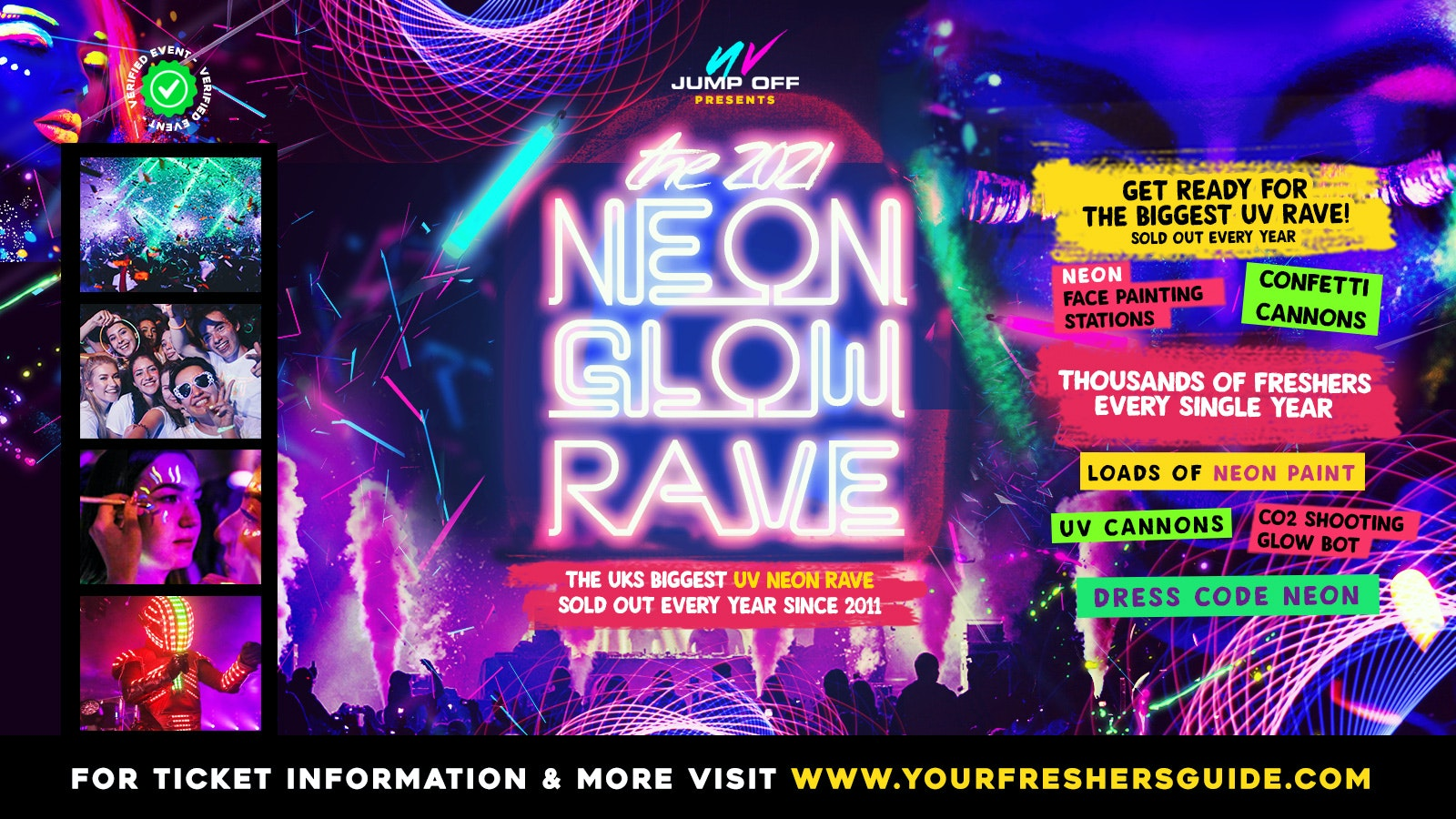 Neon Glow Rave   Surrey Freshers 2021 // Guildford Freshers 2021 – Tickets from £3!