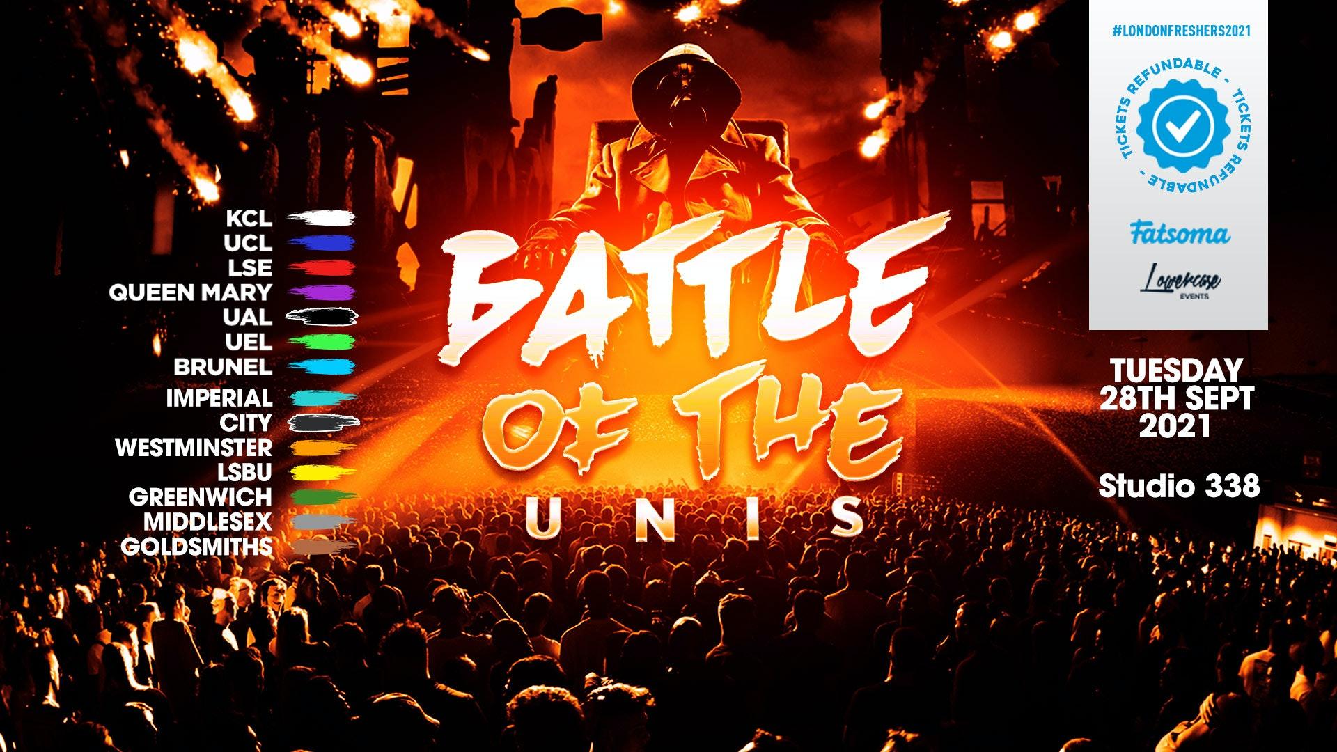 THE 2021 BATTLE OF THE UNIS! THE BIG FRESHERS UNIVERSITY CLASH // FRESHERS WEEK 3 DAY 2