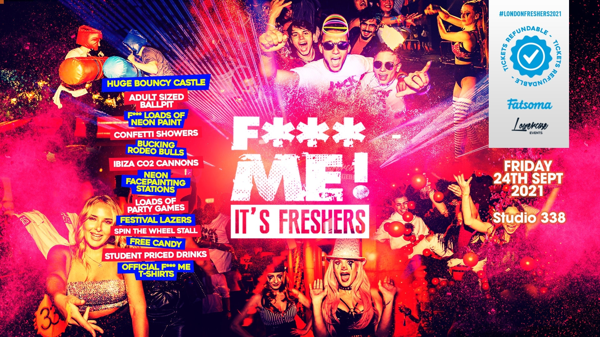 THE 2021 F-ME IT'S FRESHERS AT STUDIO 338! THIS WILL SELL OUT! // FRESHERS WEEK 2 DAY 6