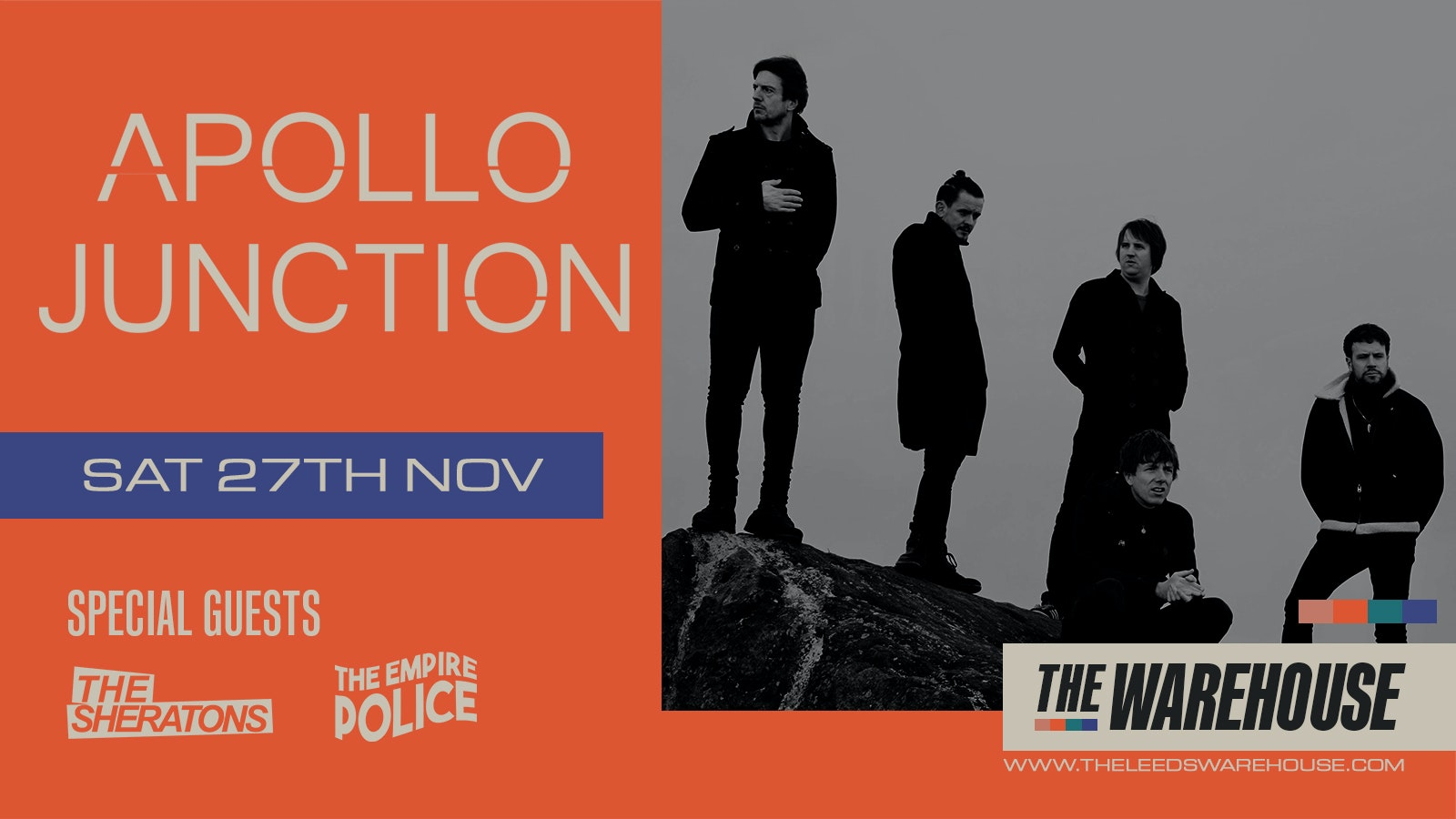 Apollo Junction + The Sheratons and The Empire Police – LIVE