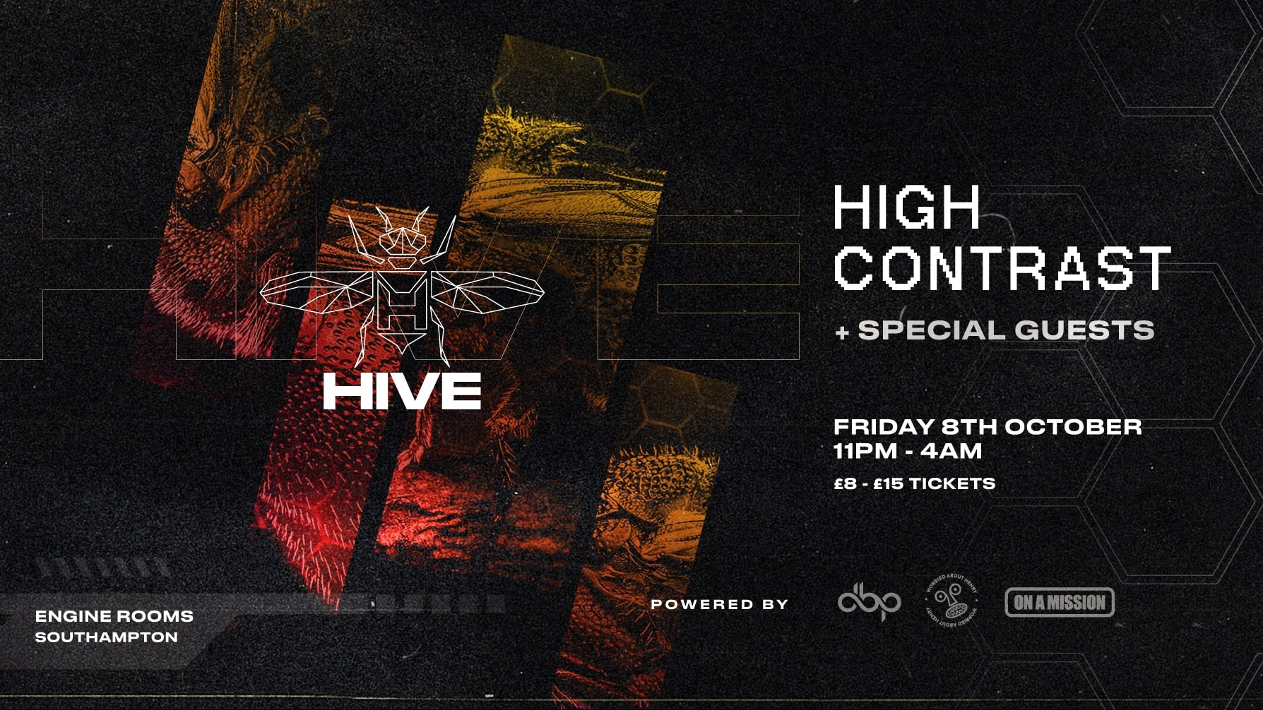 Friday 8th Oct: Hive presents:  High Contrast + Guests
