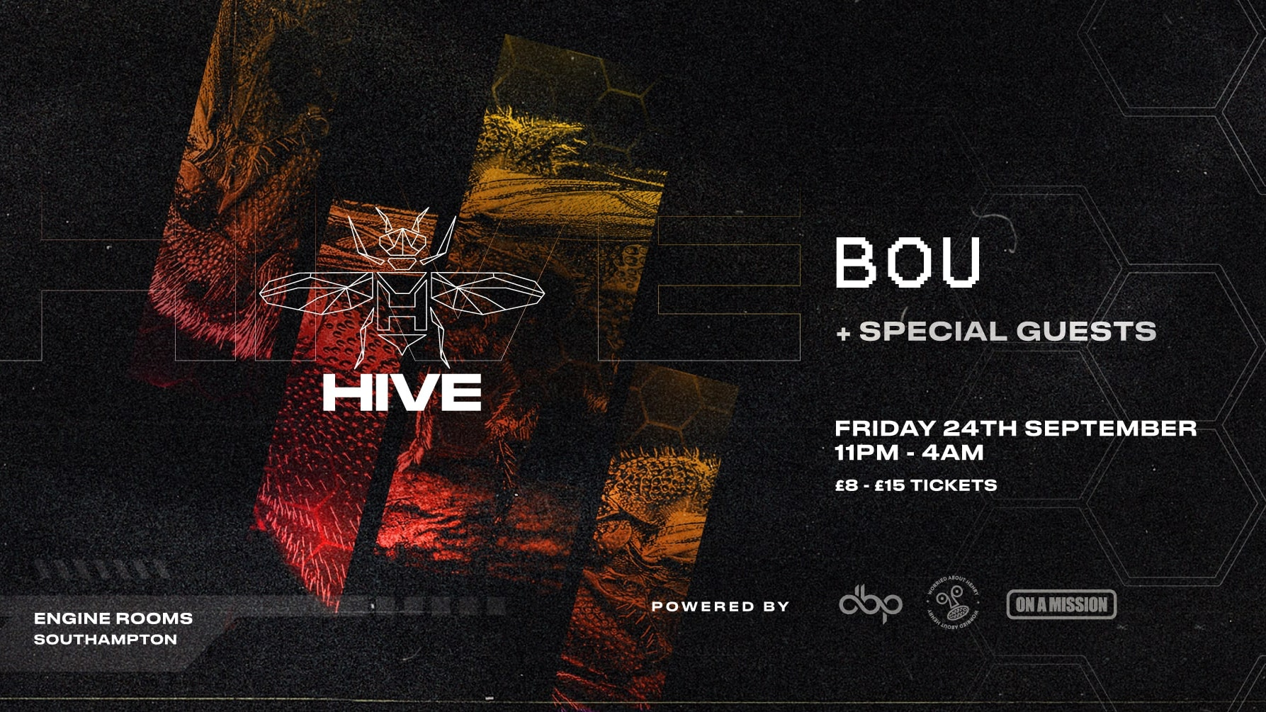 Friday 24th Sept: Hive presents: Bou + Special guests