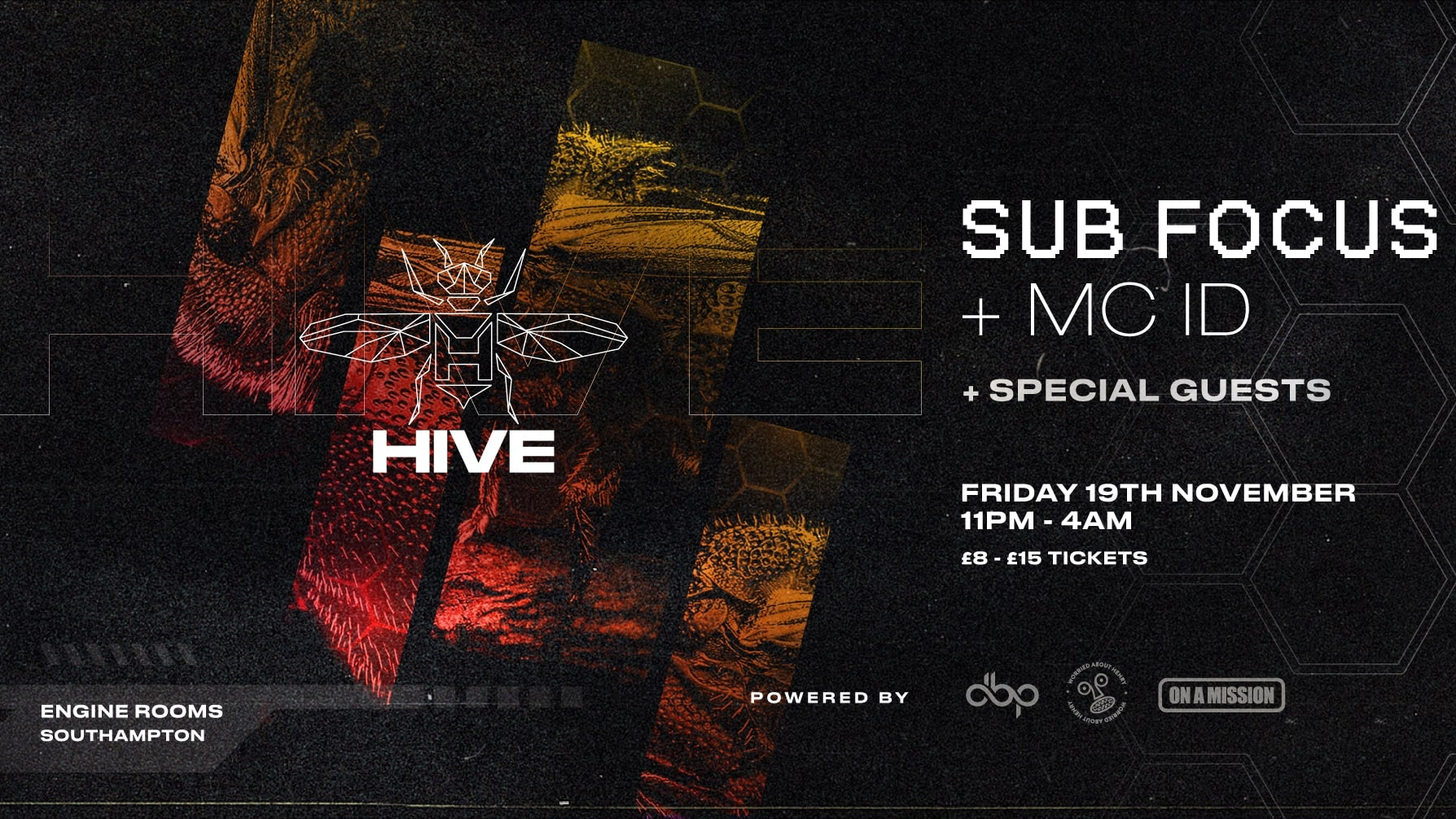 Friday 19th Nov: Hive presents: Sub Focus feat. MC ID + guests