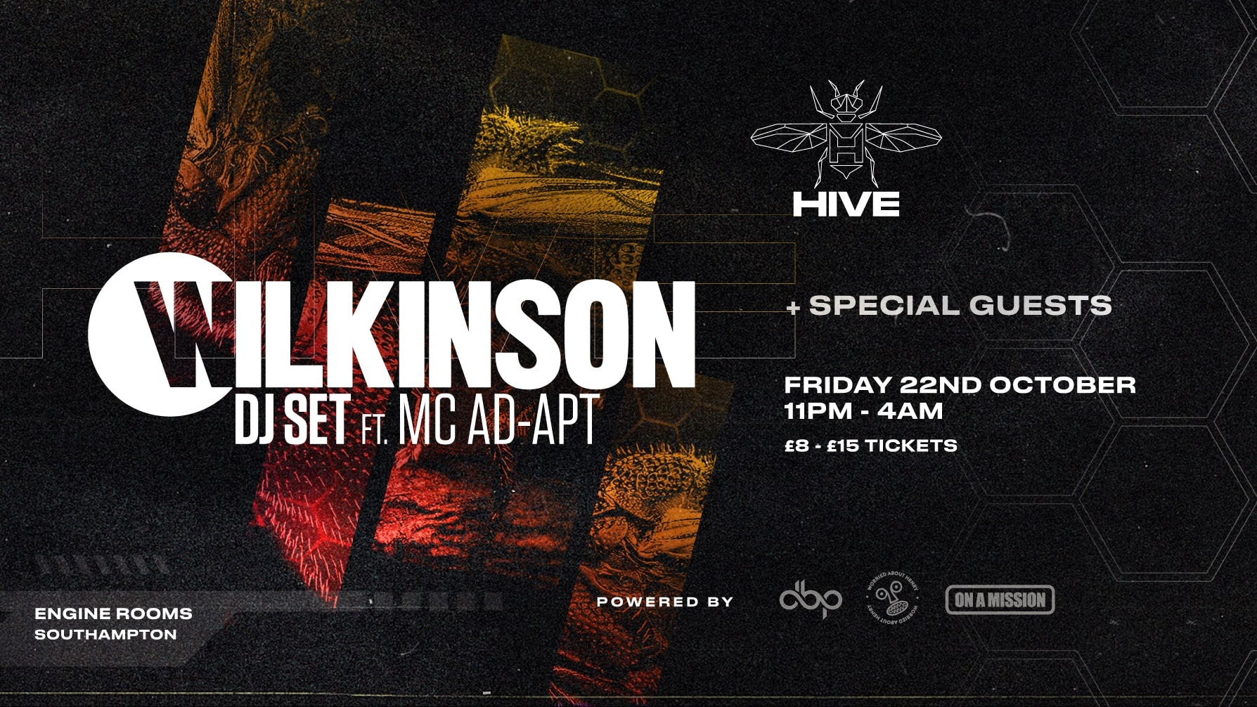 Friday 22nd Oct: Hive presents:  Wilkinson feat MC Adapt + guests