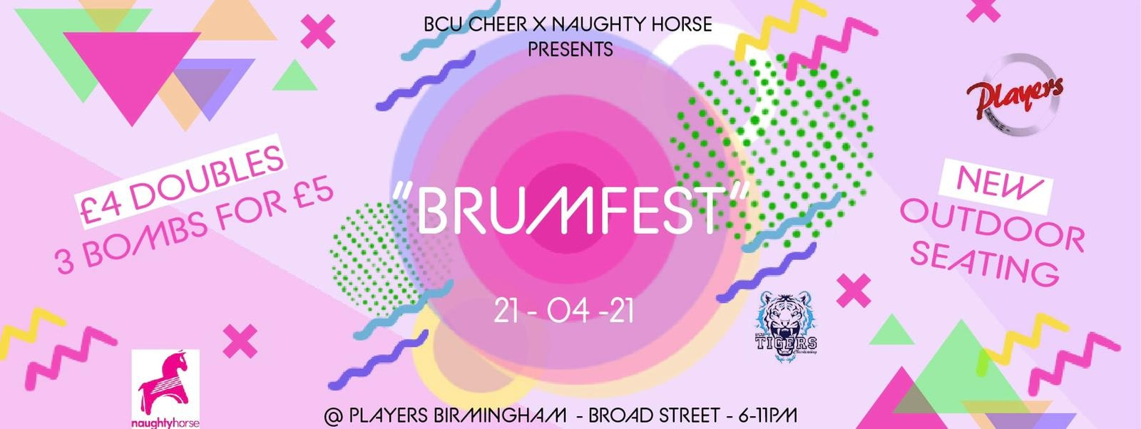 'Brumfest: Players Street Terrace Takeover' – BCU CHEER X Naughty Horse!