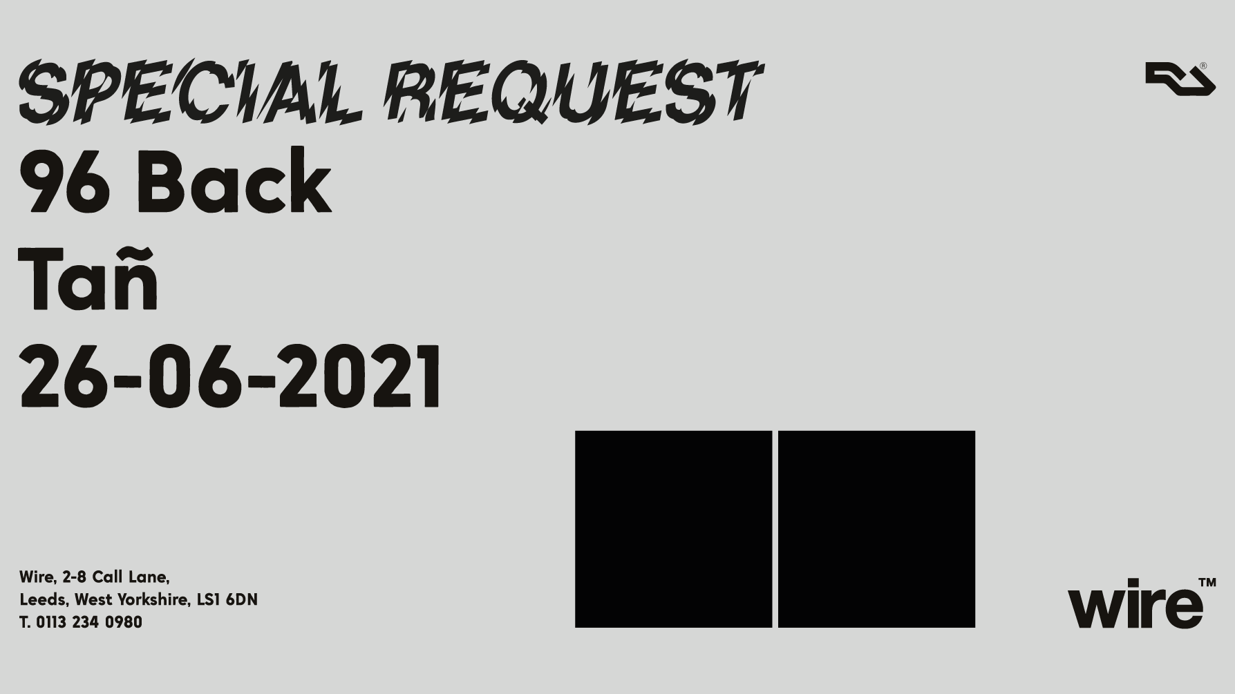 03: Special Request, 96 Back & Tañ [Sold Out]