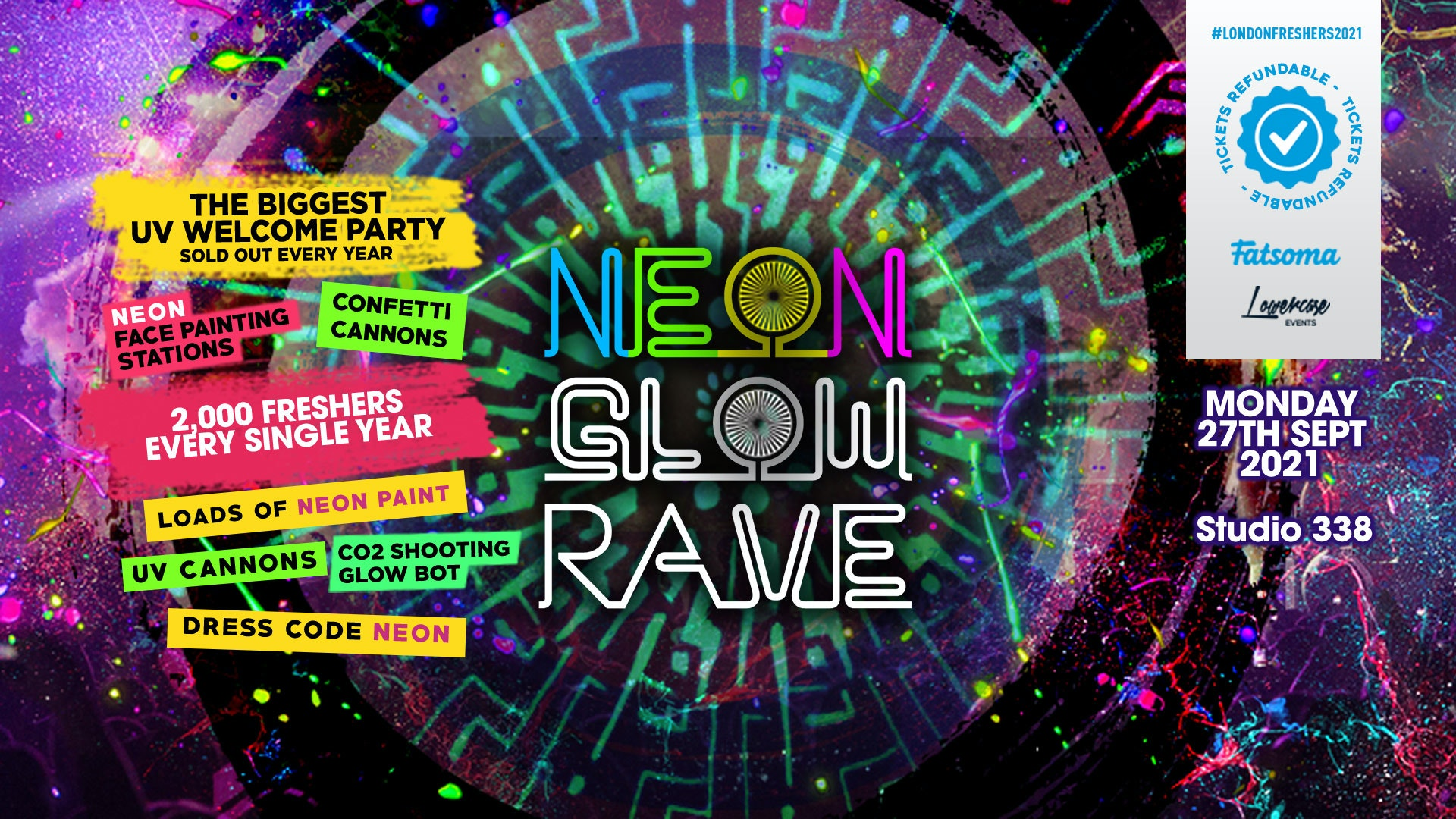 THE 2021 FRESHERS NEON GLOW RAVE AT EGG LONDON! // FRESHERS WEEK 2 DAY 2