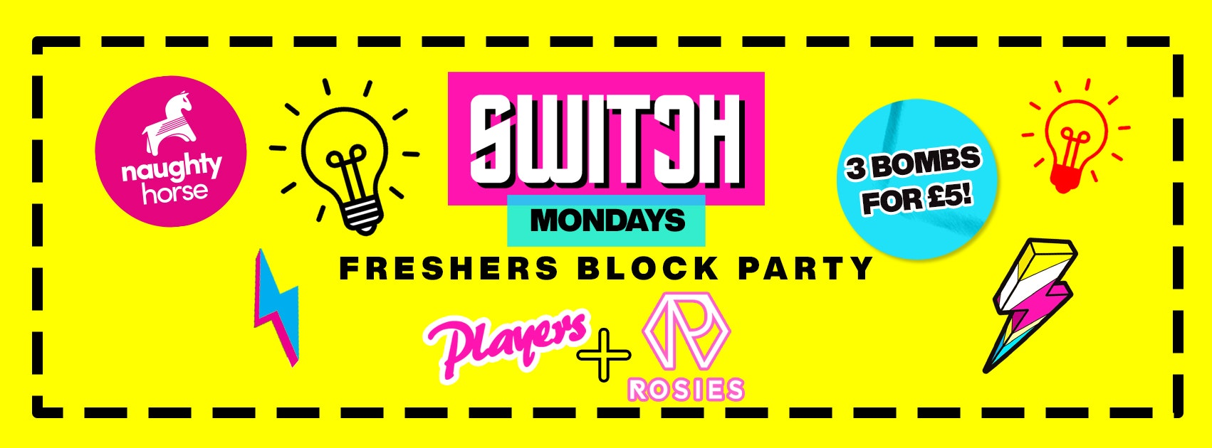 FRESHERS BLOCK PARTY – Rosies AND Players! Birmingham Freshers 2021!