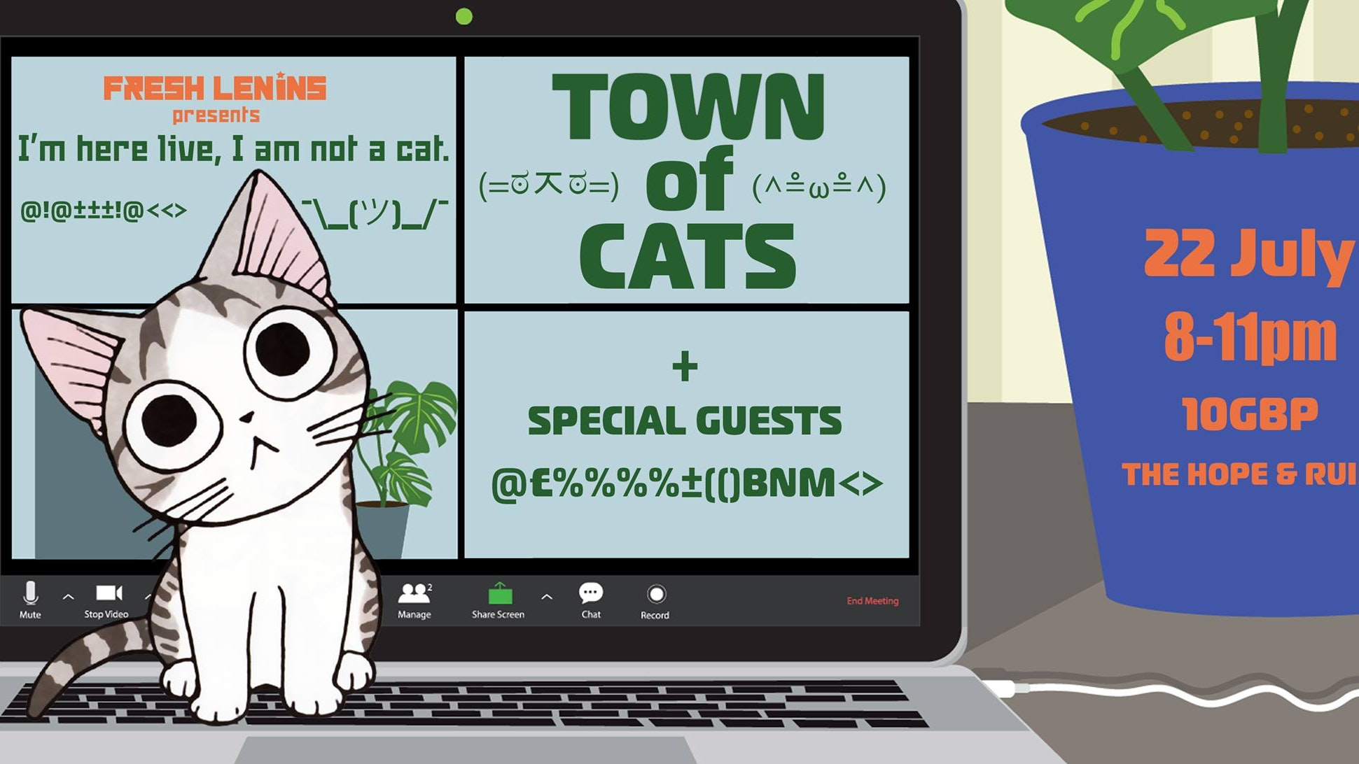 I Am Not A Cat: Town Of Cats + Guests