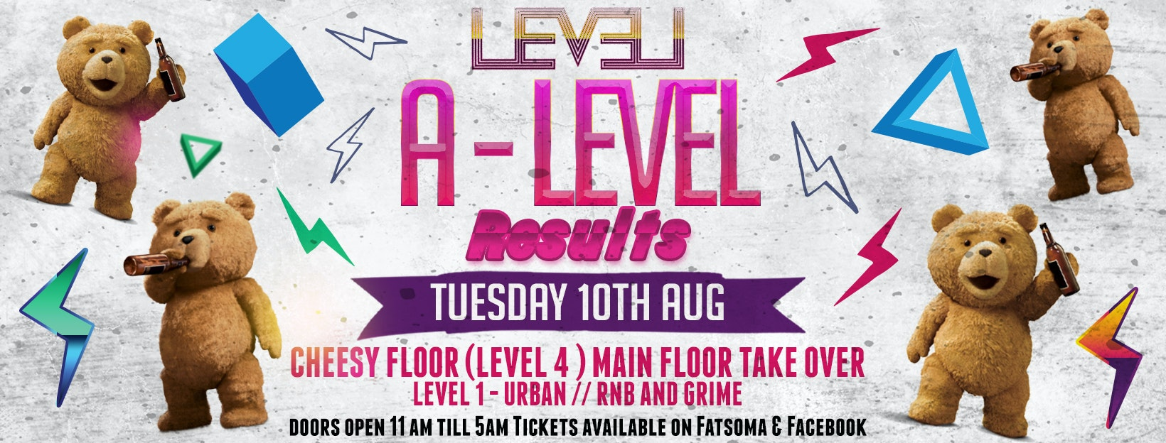 A Level Results Party – Cheesy Floor Takeover Tuesday Special