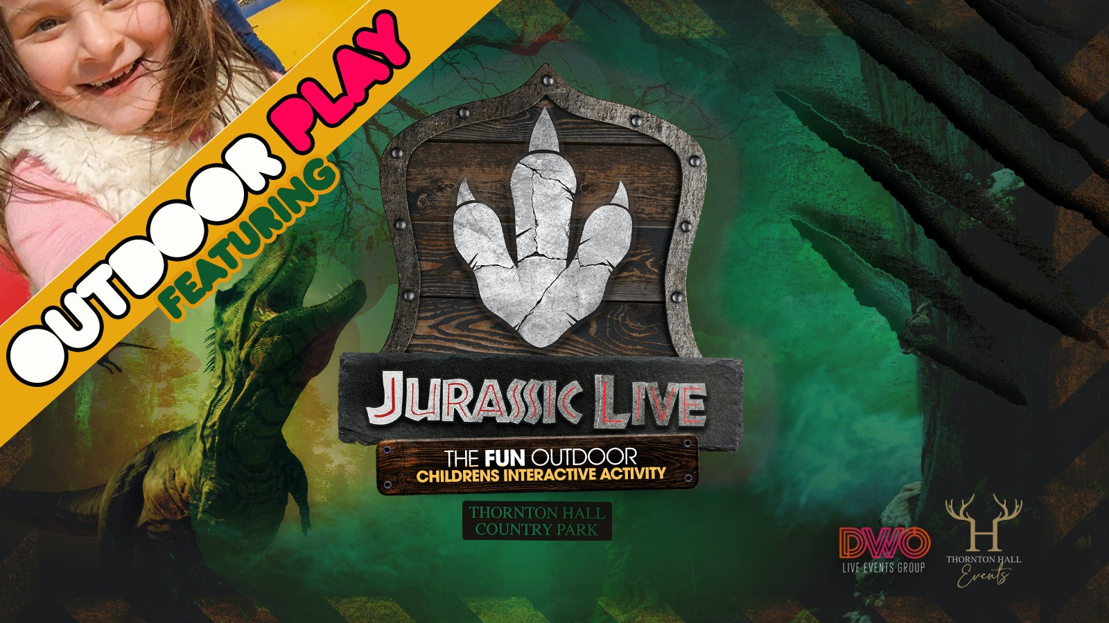 Jurassic Live inc Outdoor Play (Pm) – Saturday 24th April – 2pm