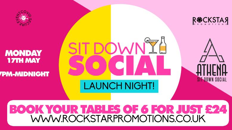 Athena Sit Down Social – Launch Night! Monday 17th May.