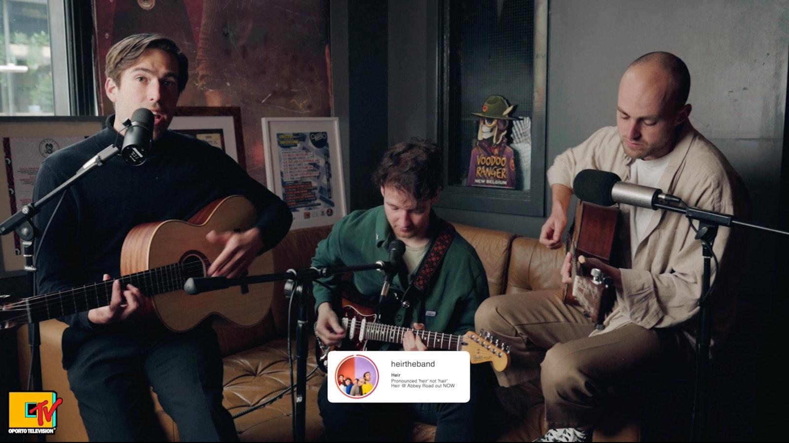 Heir – Chalkpit live session premier on #OportoTV