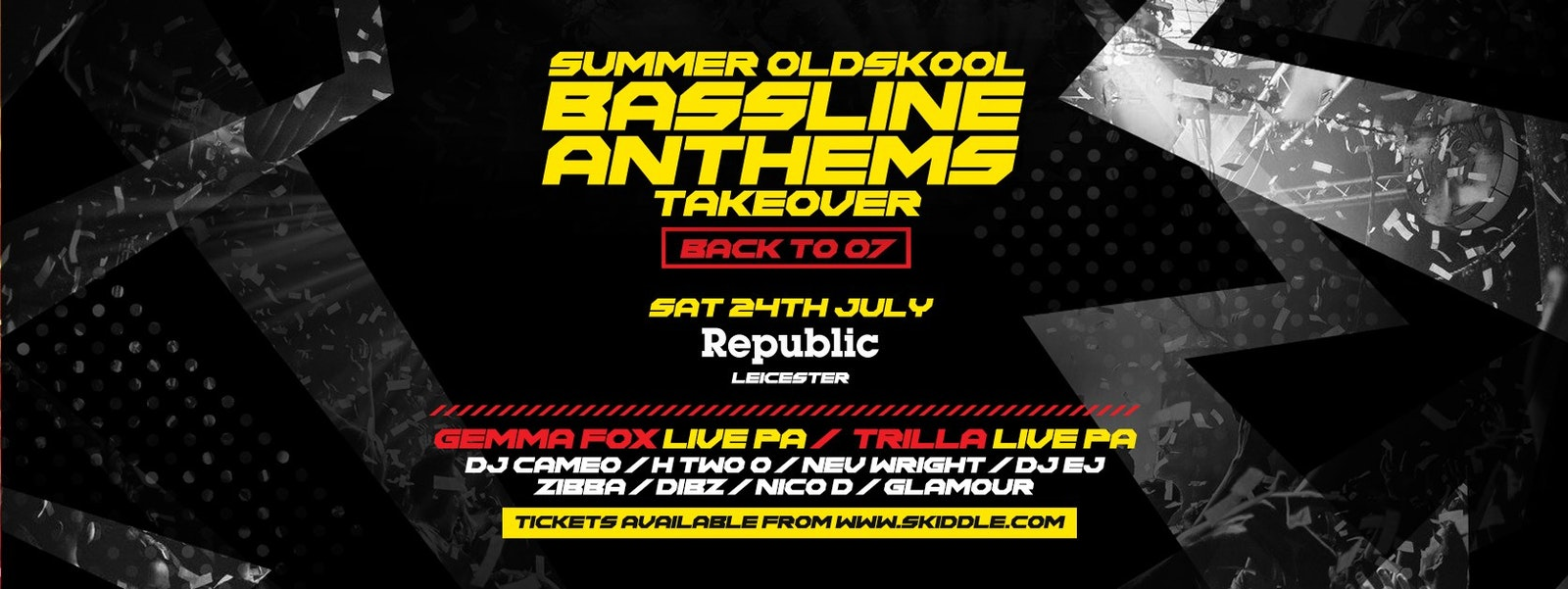 Summer Oldskool Bassline Anthems Takeover at Republic