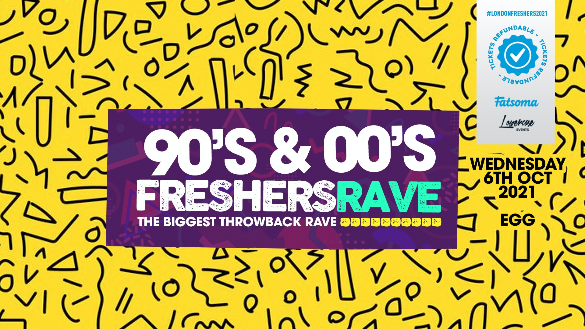 THE 90S & 00S FRESHERS RAVE – THE BIGGEST THROWBACK RAVE! // FRESHERS WEEK 3 DAY 3