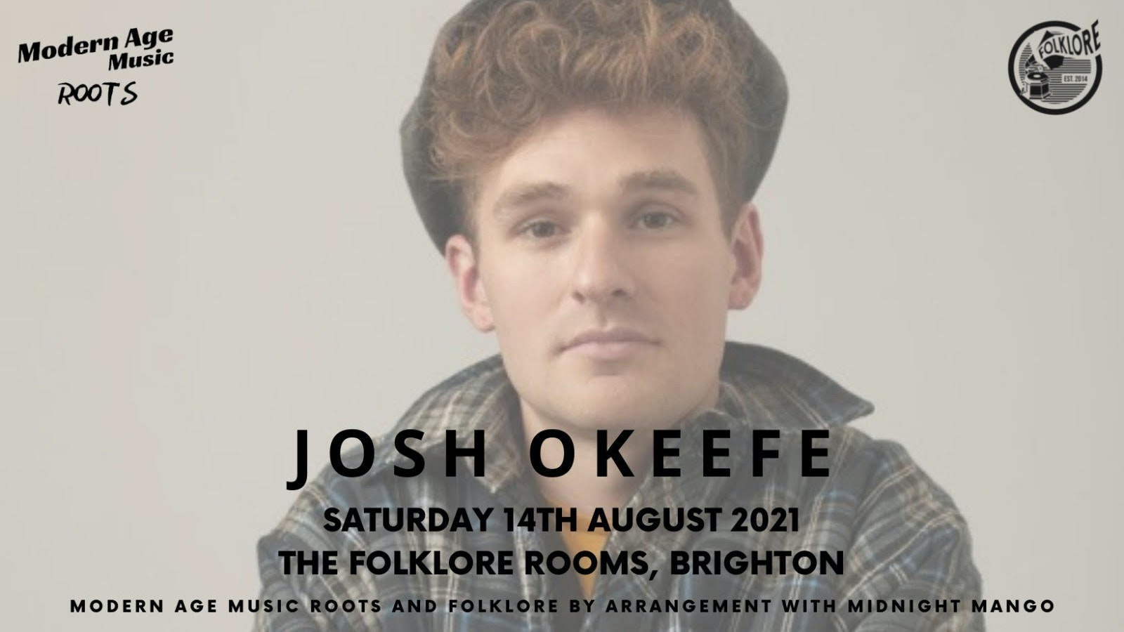 Josh Okeefe – The Folklore Rooms, Brighton