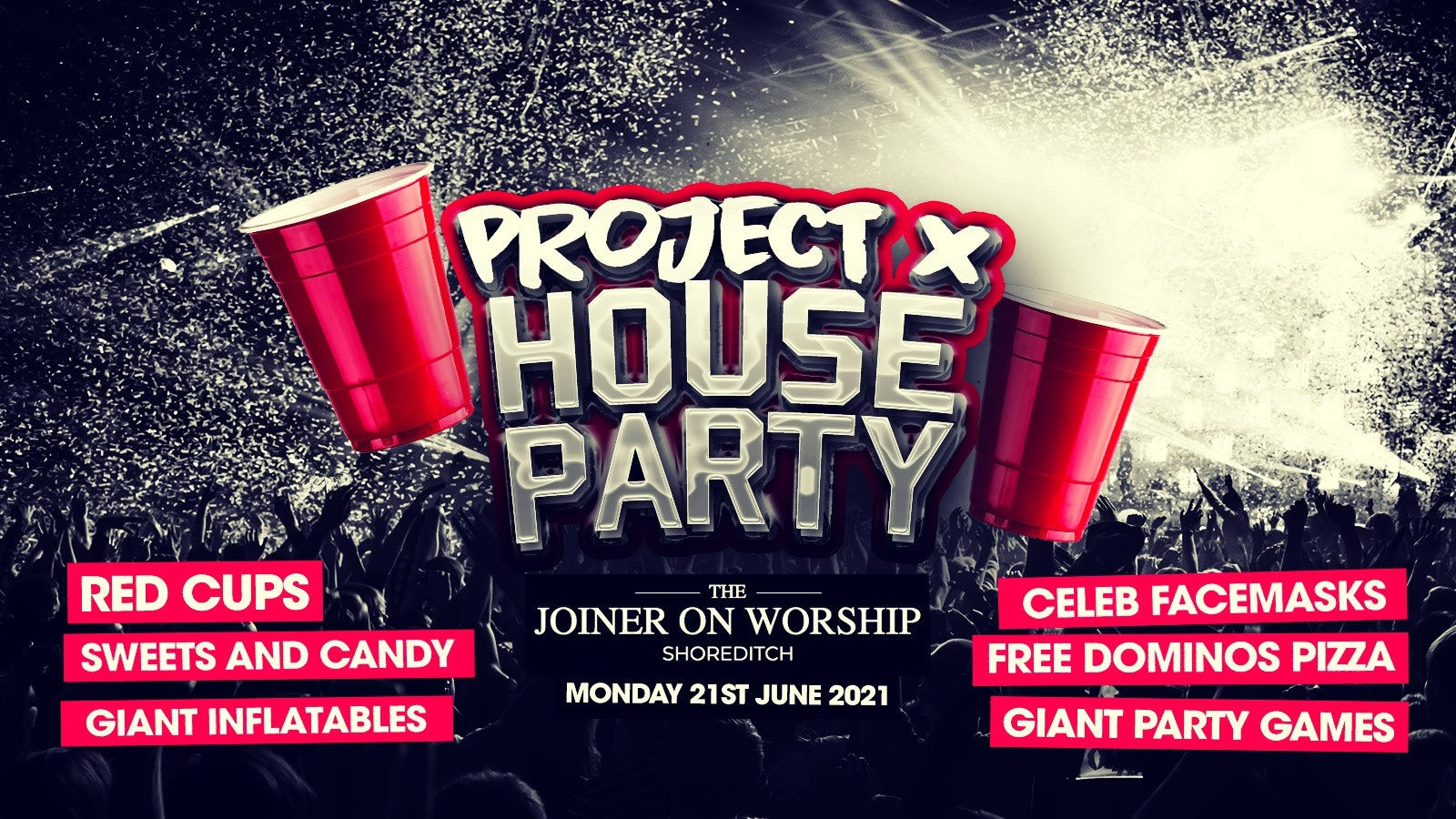 End of Lockdown Project X House Party in Shoreditch!