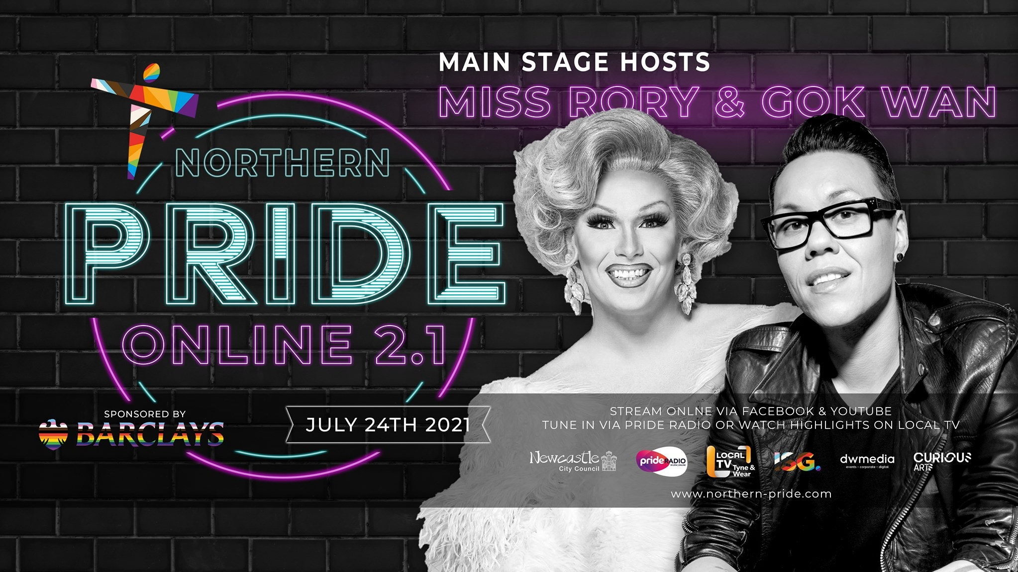 Northern Pride (Main Event) // Sat 24th July – Central Park 12pm