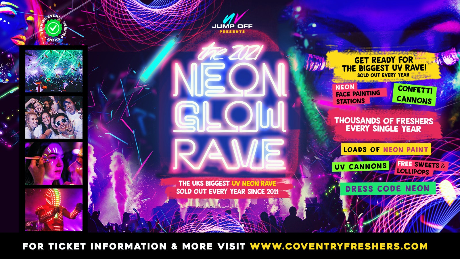 Neon Glow Rave | Coventry Freshers 2021