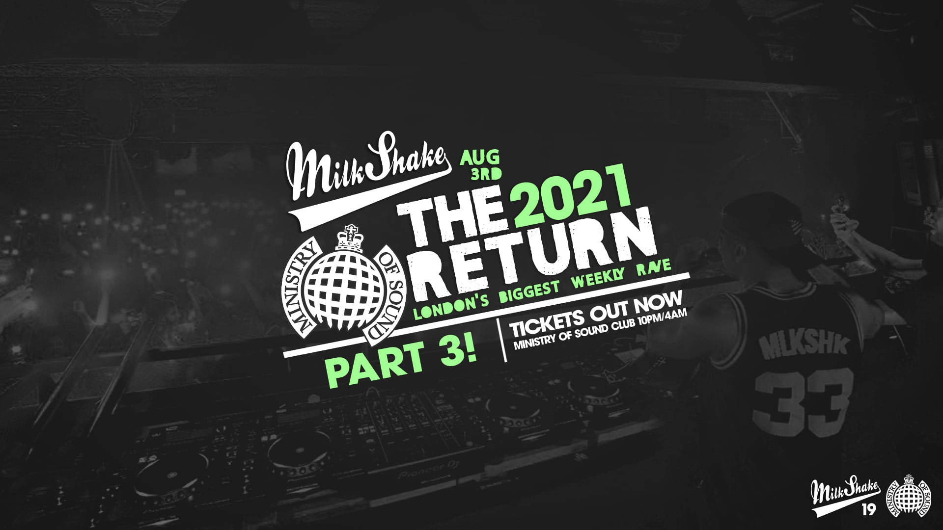 Ministry of Sound, Milkshake – The Official Return: PART 3 🔥 Ft SPECIAL GUEST 👀
