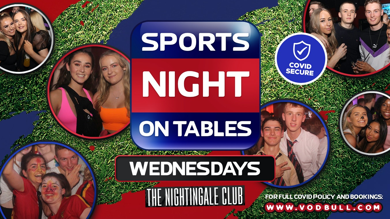 ☆ SPORTS NIGHT ON TABLES ☆ WED 23rd JUNE 2021 ☆ THE NIGHTINGALE