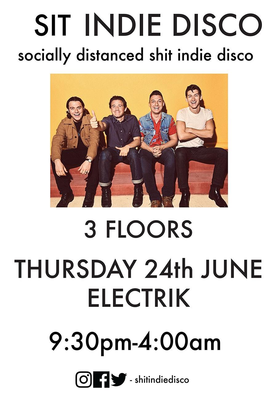 sit indie disco (socially distanced shit indie disco) – 3 floors