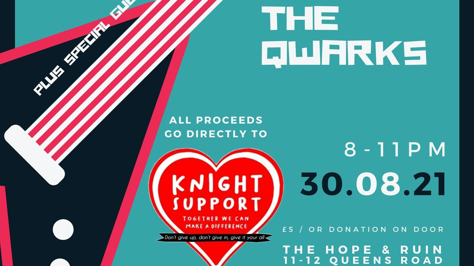 Knight Support: The Qwarks + Man Like Malcolm + Yoga Death Cult