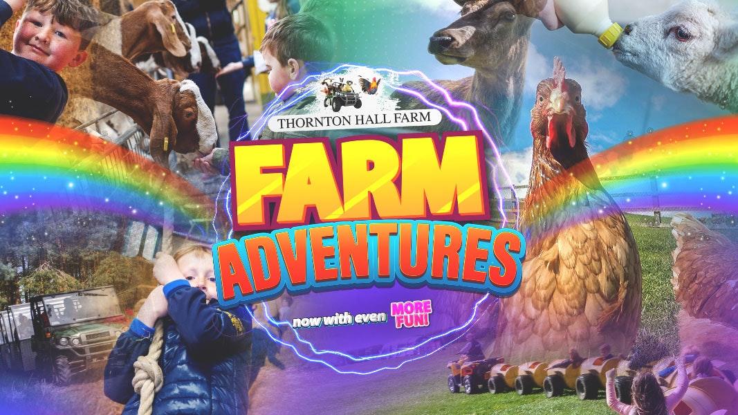 Thornton Hall Farm – Farm Park Entry – All Day Ticket – Sunday 27th June