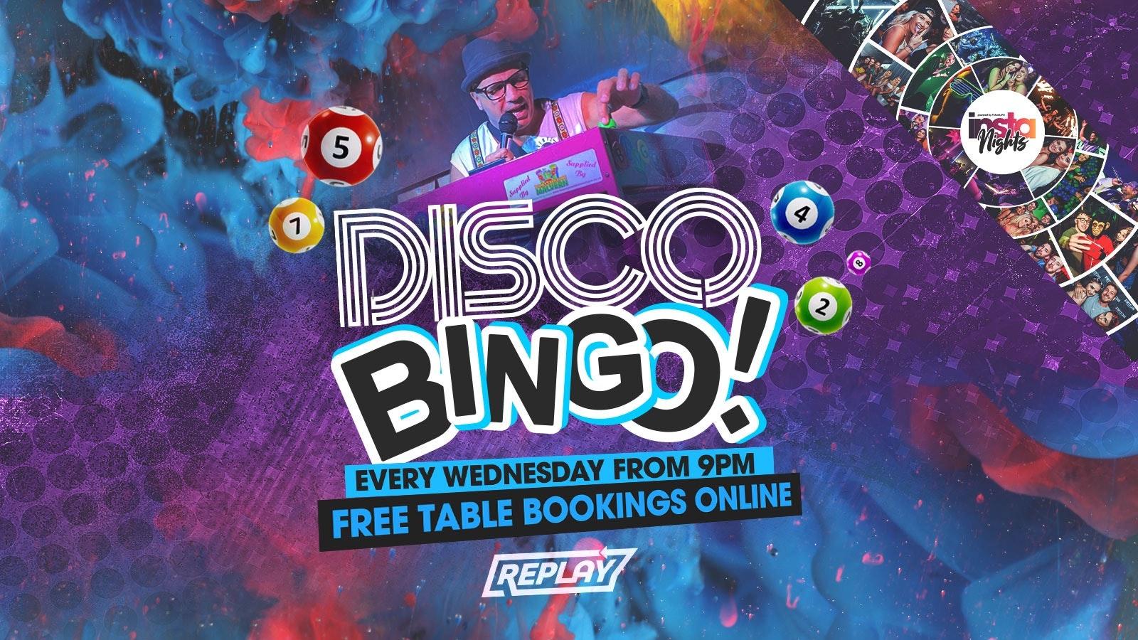 Disco Bingo | Wednesday 16th June | Table Reservations
