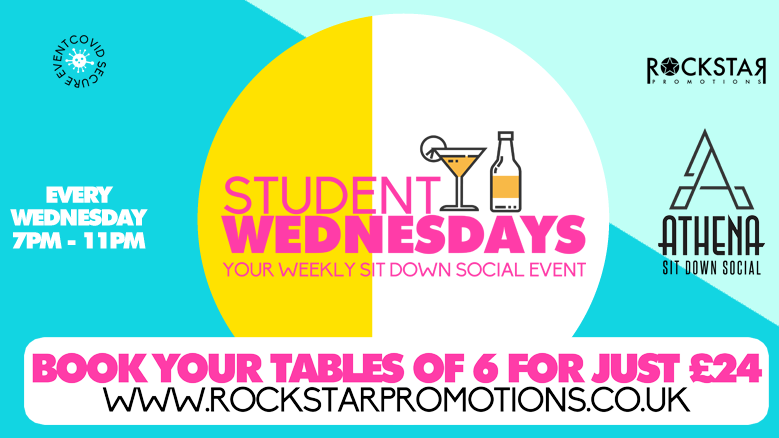 Athena Sit Down Social – Student Wednesdays! 16th June.