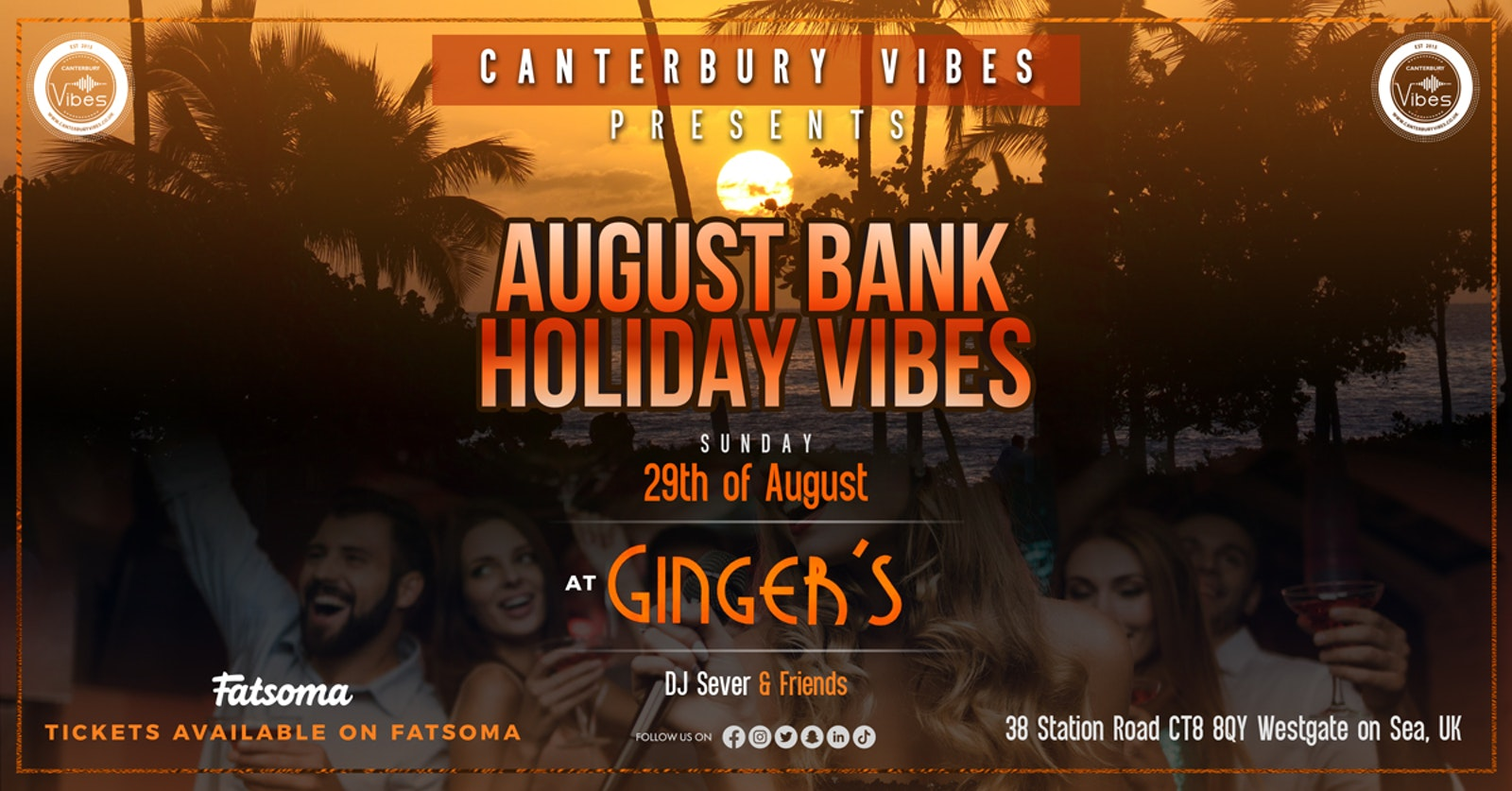 AUGUST BANK HOLIDAY WEEKEND LAUNCH PARTY