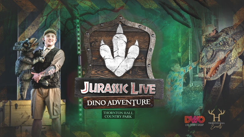 Jurassic Live Dino Adventure (including Farm Park Entry) – Monday 19th July – All Day Ticket