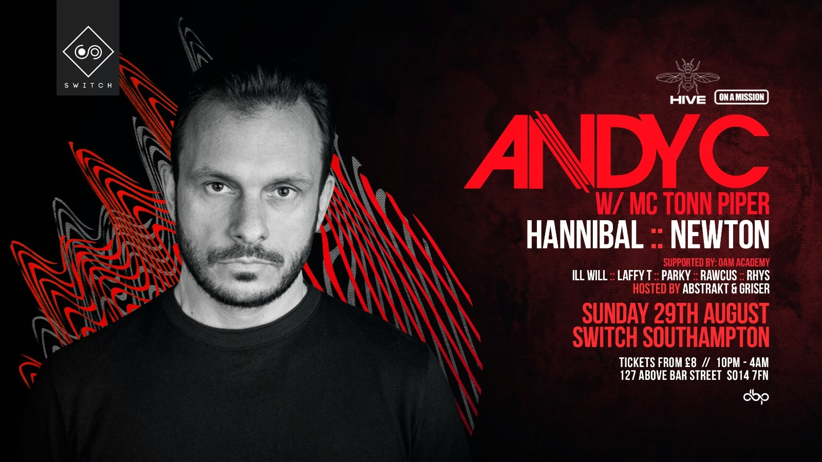 Andy C feat. Tonn Piper (Rescheduled 29th Aug 2021)