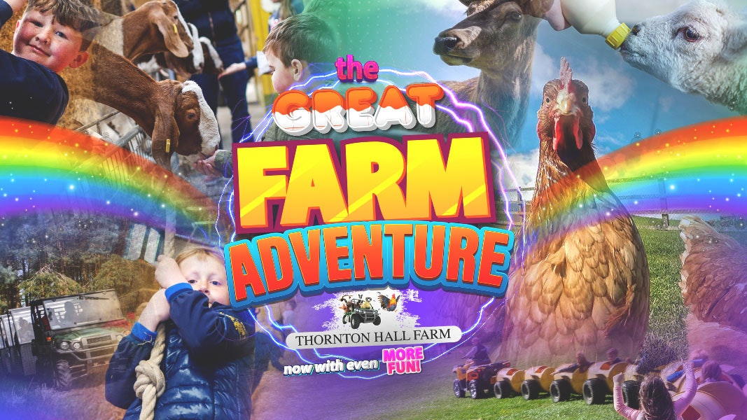 The Great Farm Adventure – (including Farm Park Entry) – Sunday 8th August – All Day Ticket