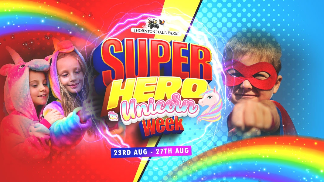 Super Hero & Unicorn Week (including Farm Park Entry) – Wednesday 25th August – All Day Ticket