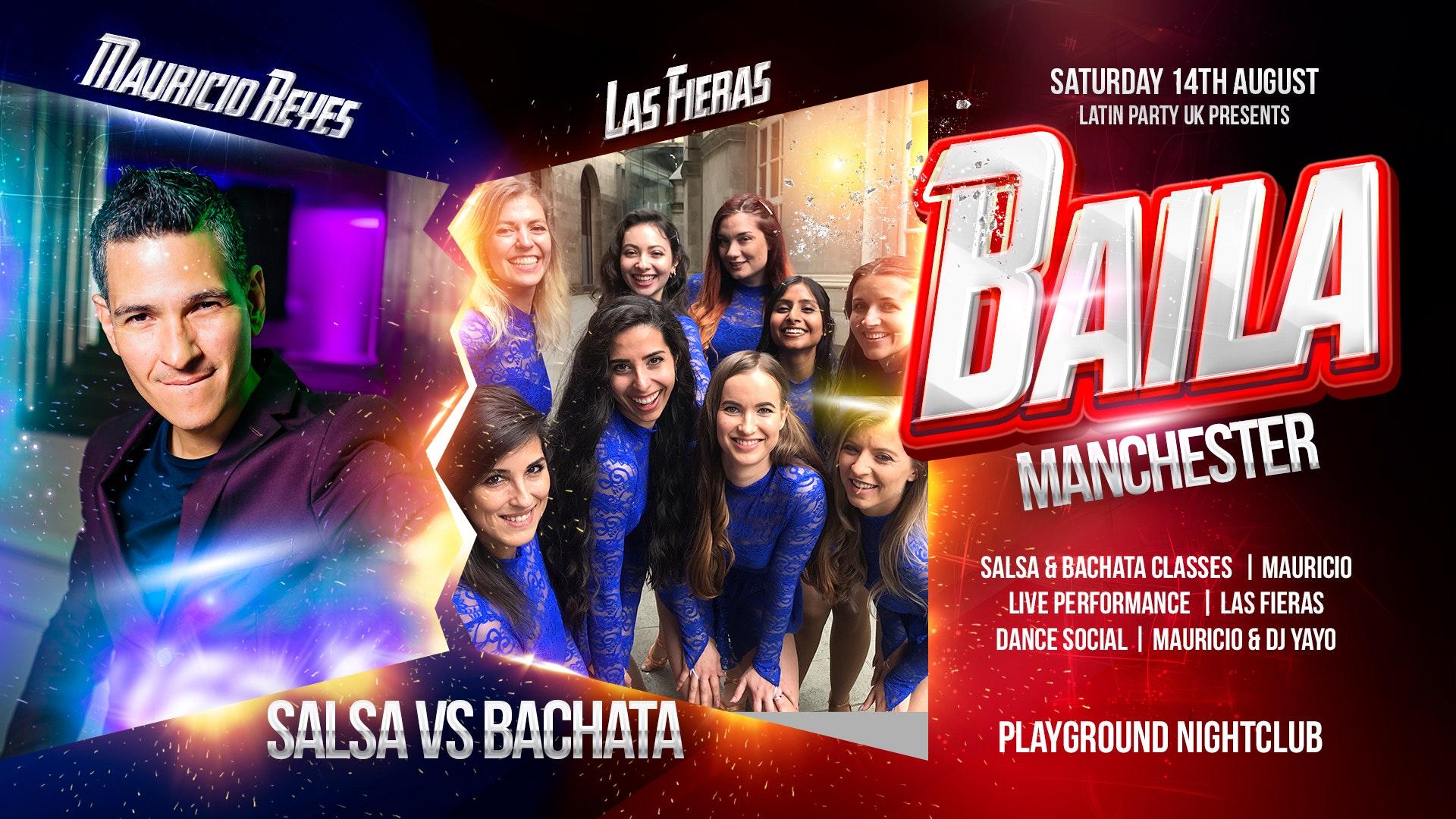 Baila Manchester – Salsa vs Bachata with Mauricio Reyes & Las Fieras