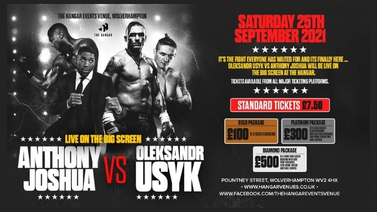Anthony Joshua VS Olexsandr Usyk LIVE on the big screen