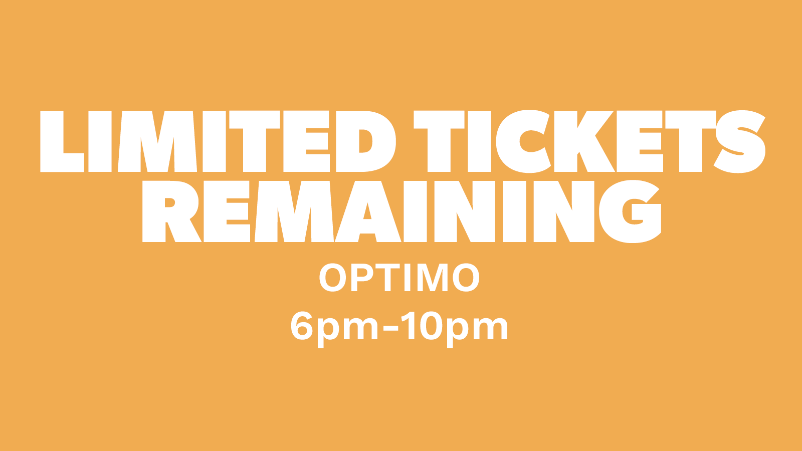 Chow Down: Friday 6th August – Optimo (DJ set)