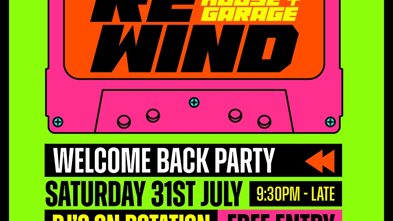 RE:WIND – THE UK'S BIGGEST HOUSE & GARAGE  AFTERPARTY SAT 31ST JULY 2021