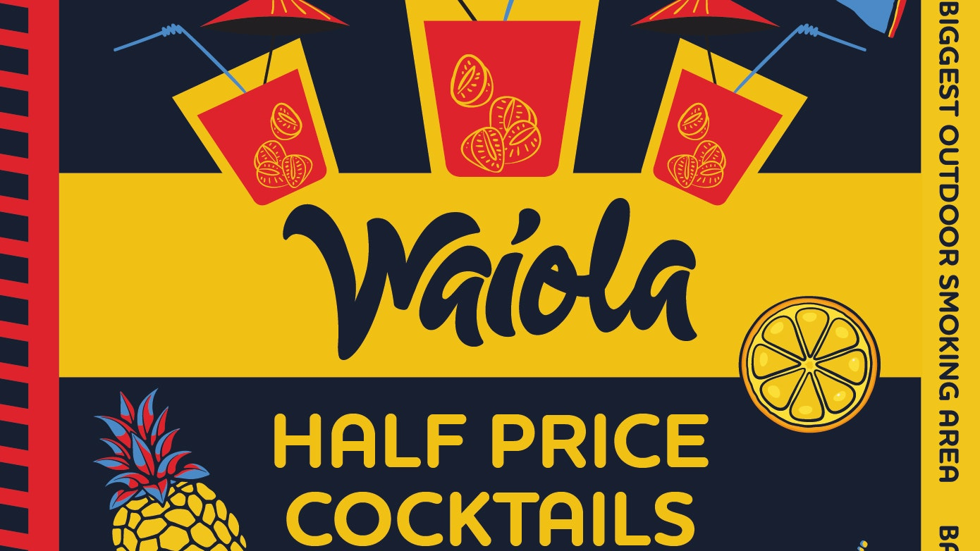 Waiola – 1/2 Price Cocktail's