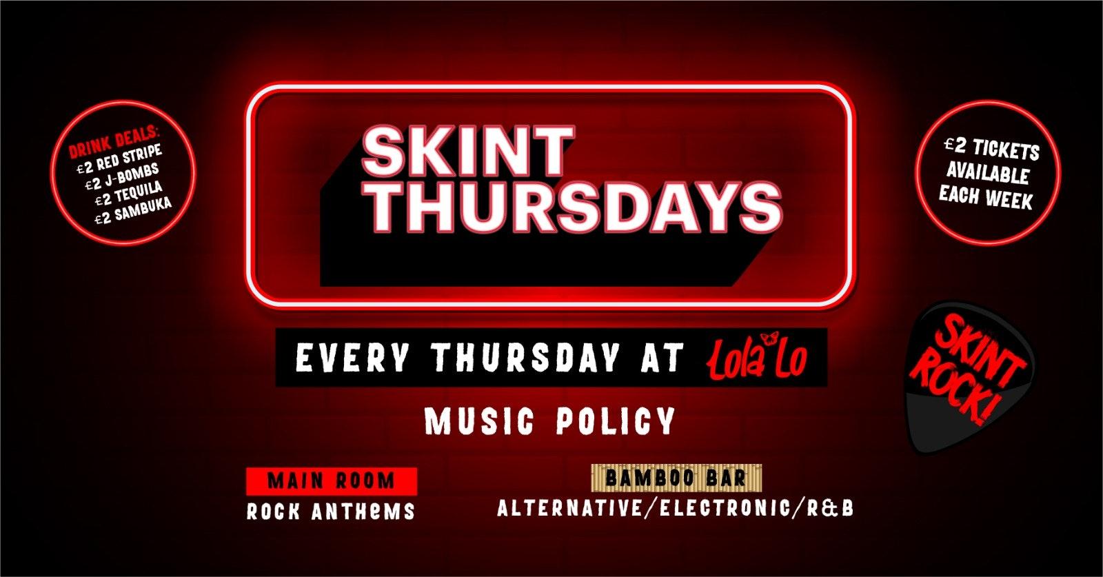 SKINT Thursdays : 19/08/21