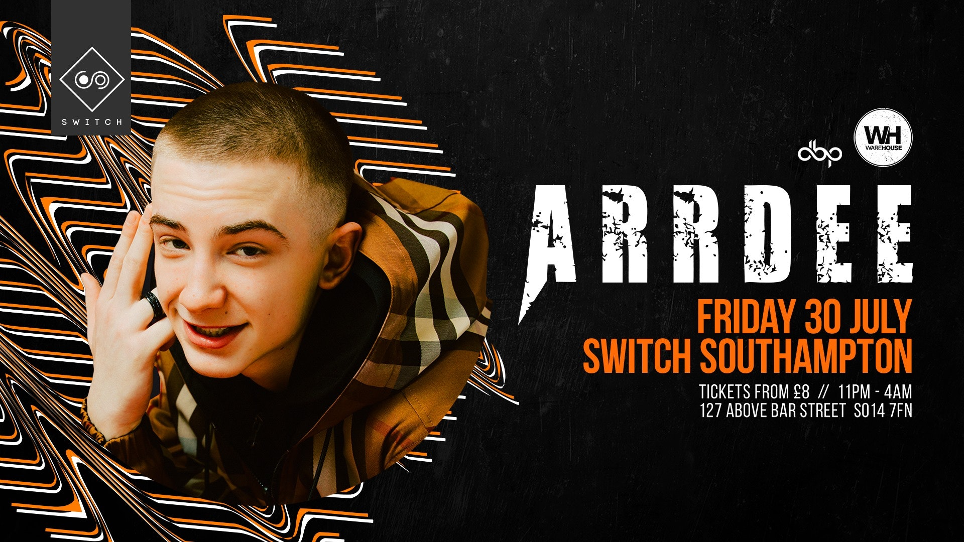 Arrdee LIVE at Switch • TOMORROW Night!