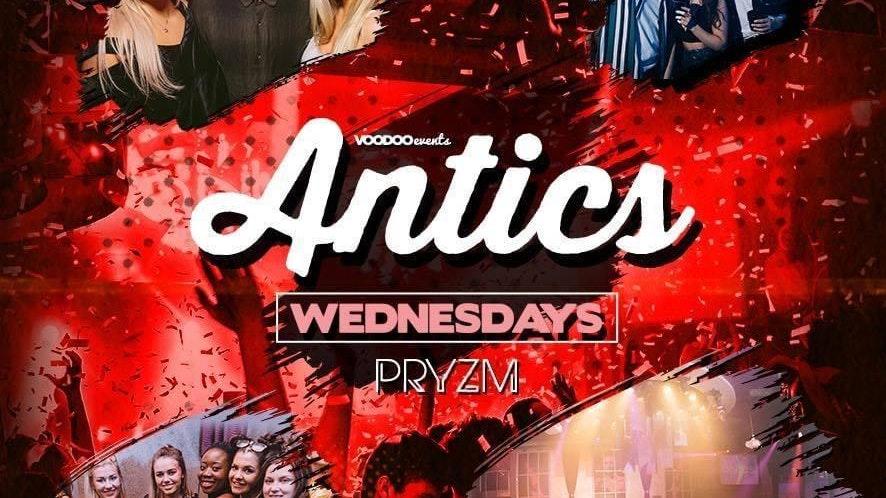 Antics at PRYZM Leeds – Pre Freshers 15th September