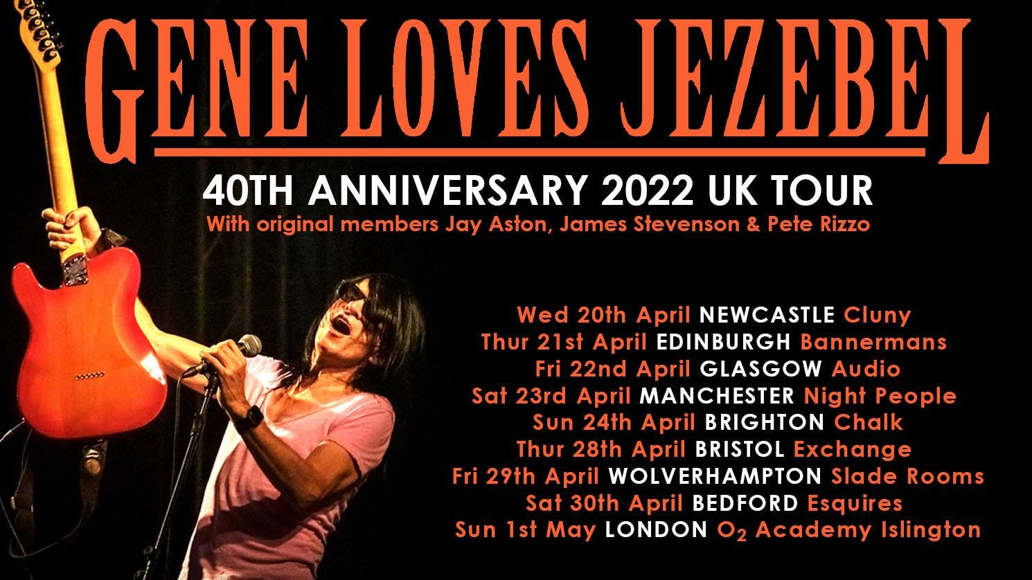 Gene Loves Jezebel – New date 2022 NEWCASTLE