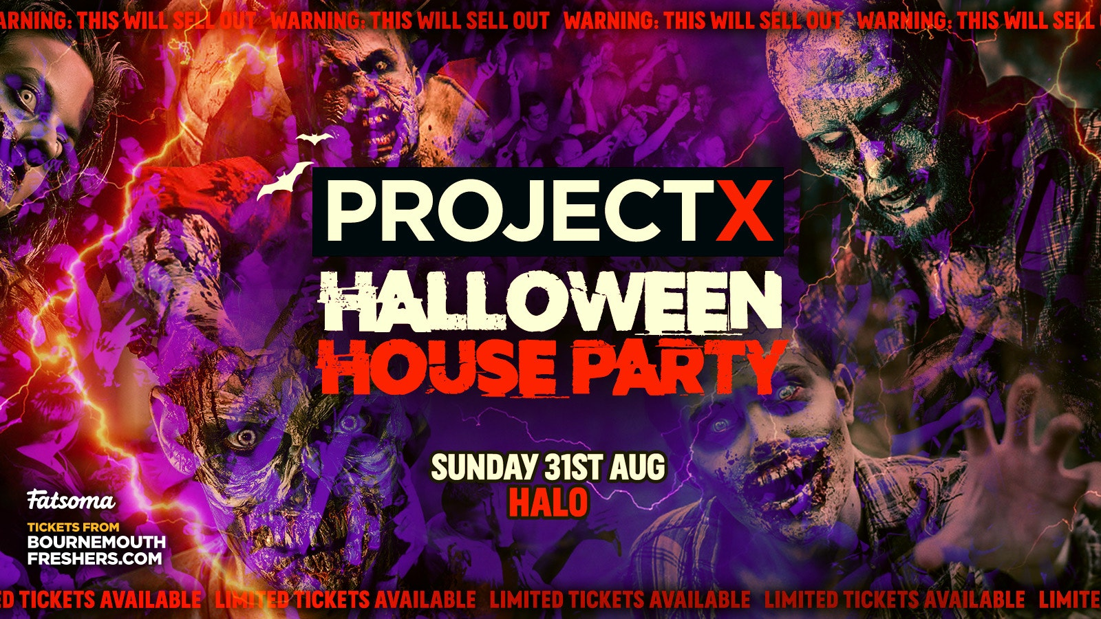 Project X Halloween House Party 2021 – The BIGGEST American Themed House Party This Year   Bournemouth Freshers 2021