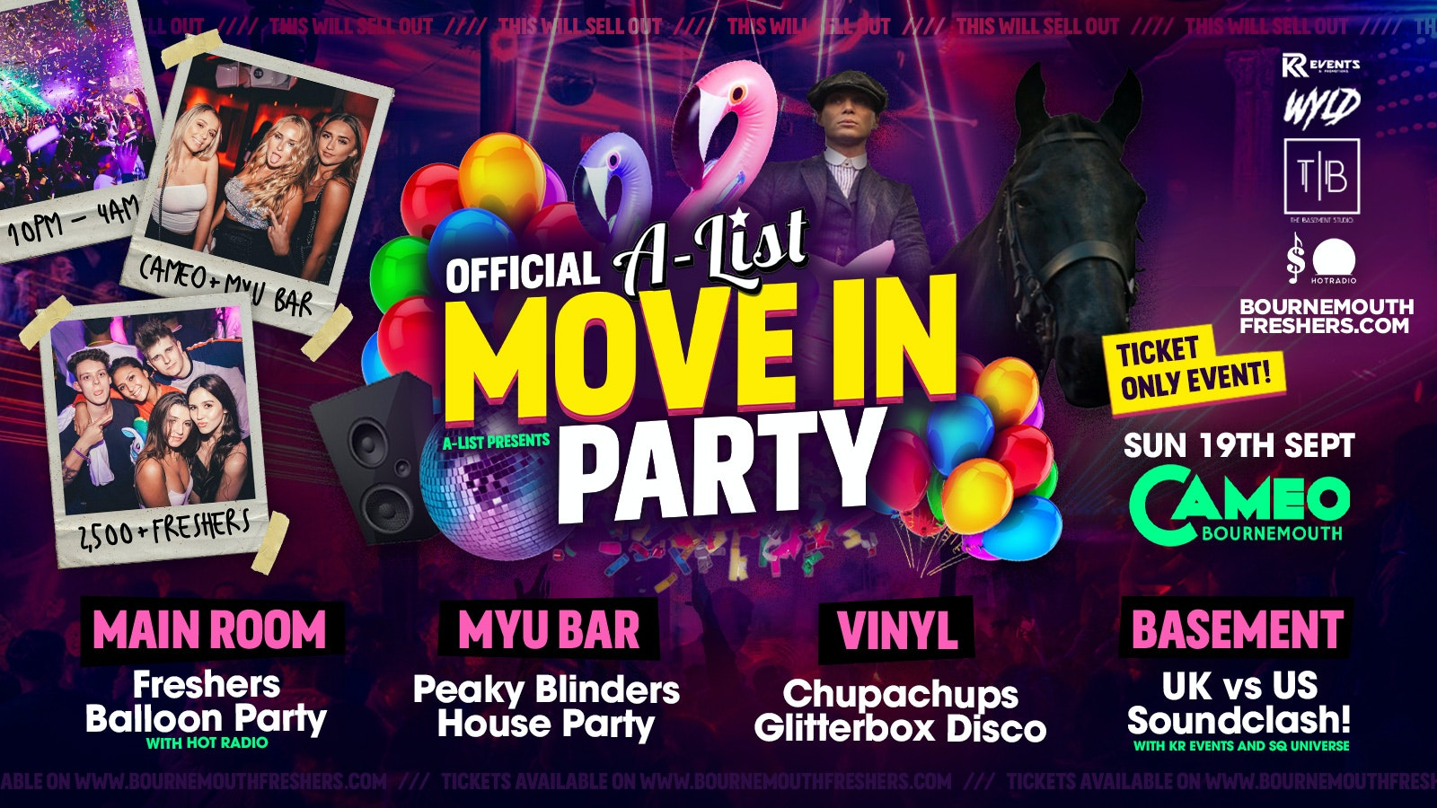 The Official A-list Move In Party Bournemouth at Cameo | Bournemouth Freshers 2021