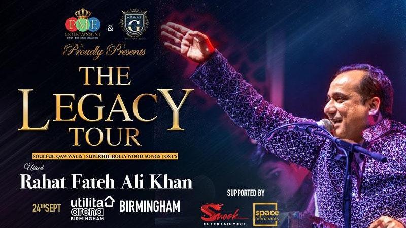 Rahat Fateh Ali Khan – The Legacy Tour 2021 : Birmingham